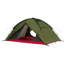 High Peak Woodpecker 3 Tent pesto/red